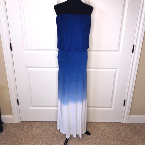 Young Fabulous & Broke Dresses & Skirts - Young Fabulous & Broke Strapless Ombré Maxi Dress